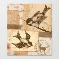 Bird Collage  Canvas Print