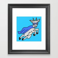 The Mighty Flash Goat Framed Art Print