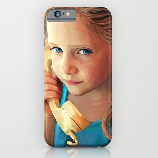 The Confidante - painting of a young girl on the phone iPhone & iPod Case
