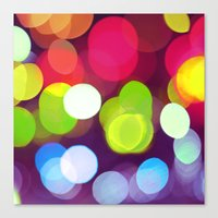 Light Dots Canvas Print
