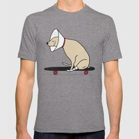Cone of shame won't stop me Mens Fitted Tee Tri-Grey SMALL
