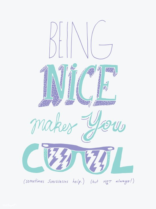 Being Nice Canvas Print
