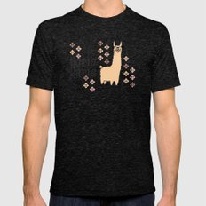 llama llama Mens Fitted Tee Tri-Black SMALL