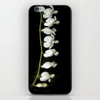 White bleeding hearts iPhone & iPod Skin