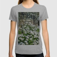 Museum & Wild Flowers - … Womens Fitted Tee Athletic Grey SMALL