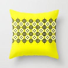 Yellow Fru Fru Throw Pillow