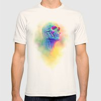 SKULL CANDY Mens Fitted Tee Natural SMALL
