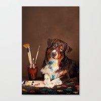 Canvas Print featuring DOG ARTIST by Ylenia Pizzetti