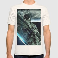 Milleniuim Falcon Mens Fitted Tee Natural SMALL