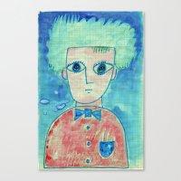 Grid boy Canvas Print