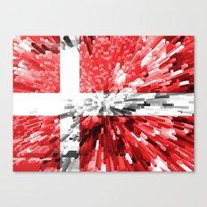 Denmark Flag - Extrude Canvas Print