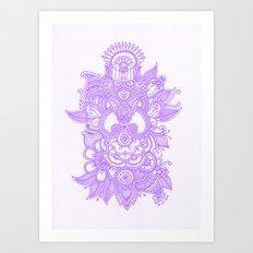 Purple Henna Art Print