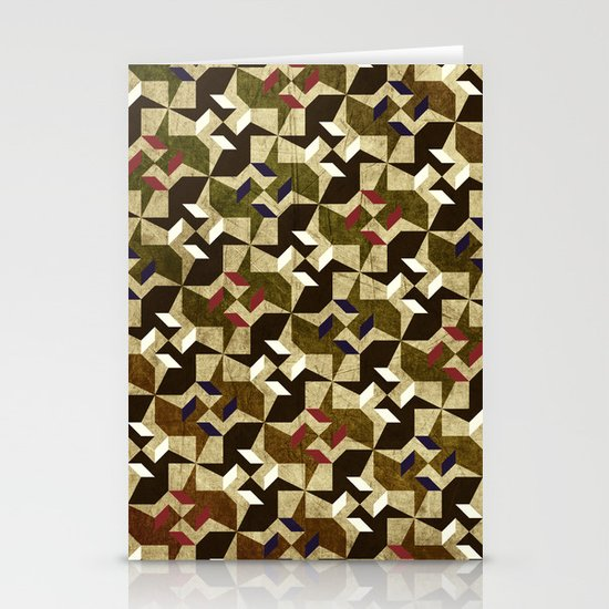 Retro Pattern Stationery Card