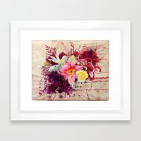 Country Floral Framed Art Print