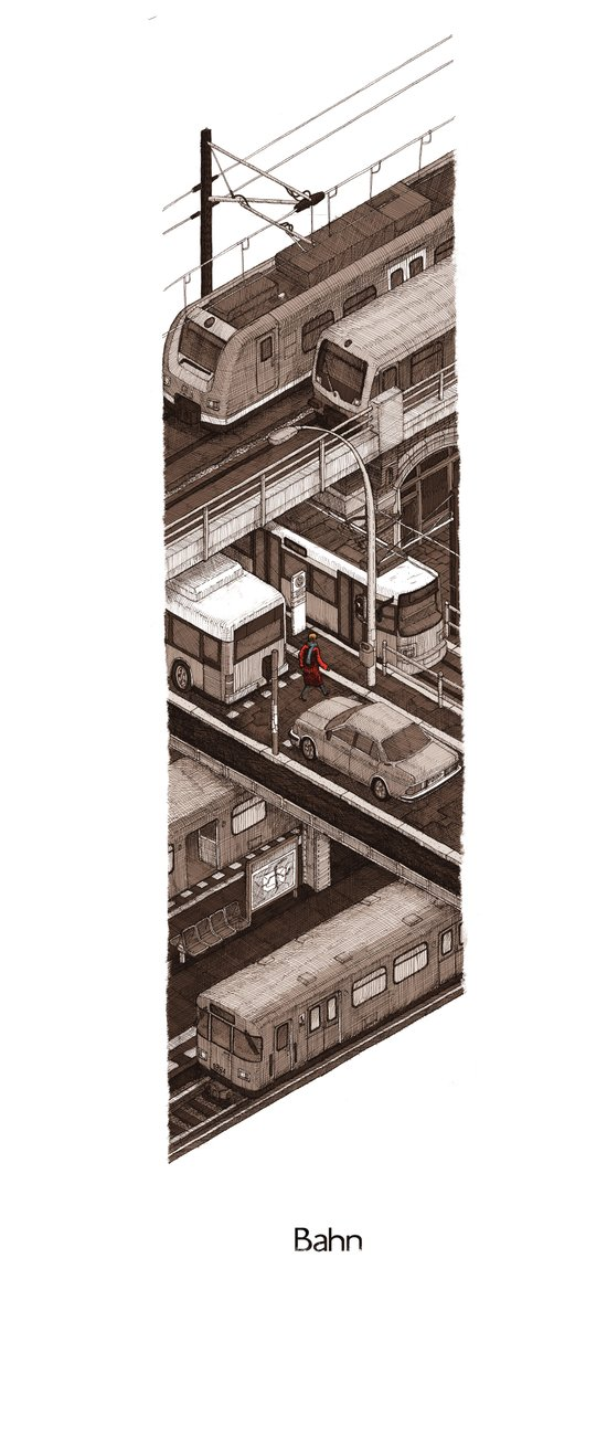 Bahn Art Print
