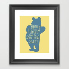 Rumbly in my Tumbly Time for Something Sweet - Winnie the Pooh inspired Print Framed Art Print