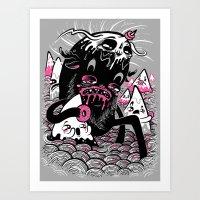 Wandering Donutbeast Art Print