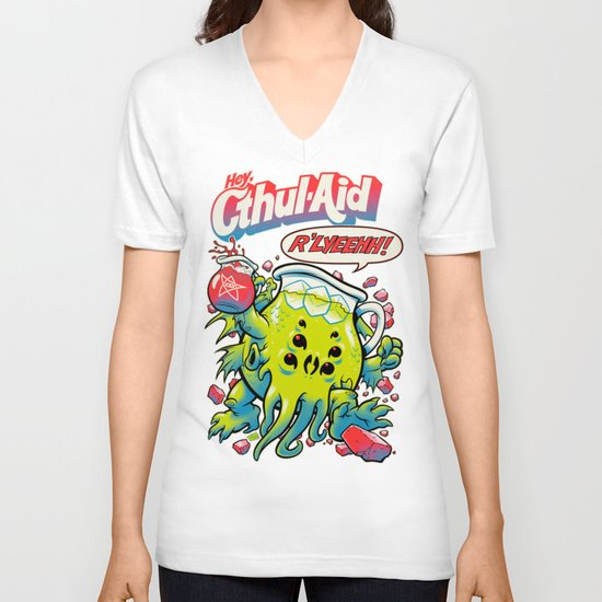 CTHUL-AID V-neck T-shirt