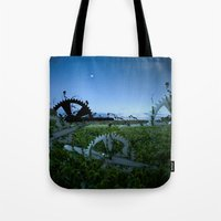 Sprockets In The Mist Tote Bag