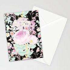 Flower Bouquet in Black Stationery Cards