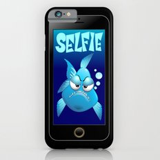 Selfie Grumpy Fish Cartoon on Smartphone Slim Case iPhone 6s