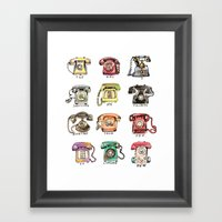 Ring My Bell Framed Art Print