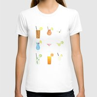 Mixed Drinks Womens Fitted Tee White SMALL