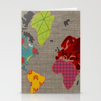 Simi's Map Of The World Stationery Cards