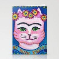 el Kitty Kahlo Stationery Cards