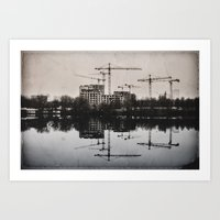 Industrial (retro Postca… Art Print