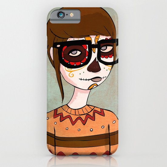 Day of the Dead Hipster iPhone & iPod Case