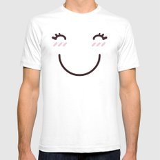 Miss Happy Mens Fitted Tee White SMALL