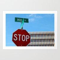 Hill St.     Ann Arbor, … Art Print
