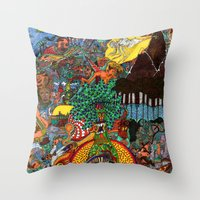 A Land Of Chaos Throw Pillow