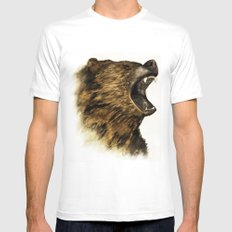 The Grizzly White SMALL Mens Fitted Tee
