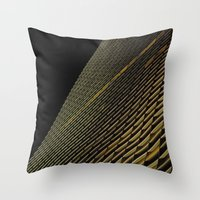 Night Building Facade Throw Pillow