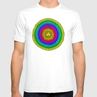 Rainbow Sun Mens Fitted Tee White SMALL