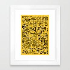 Typoster Framed Art Print