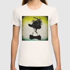 mrs skeleton Womens Fitted Tee Natural SMALL