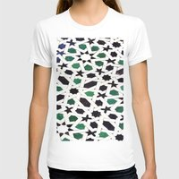 Mosaic Womens Fitted Tee White SMALL