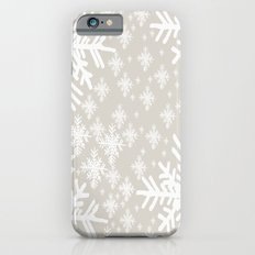 Grey Snowflake Design iPhone 6 Slim Case