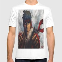 Ryu Focused  Mens Fitted Tee White SMALL