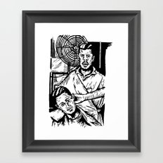 Pacific Gold Barbershop Dos  Framed Art Print