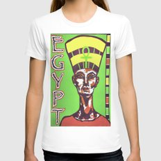 Egyptian Queen Womens Fitted Tee White SMALL