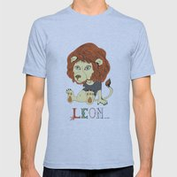 Leon Mens Fitted Tee Athletic Blue SMALL