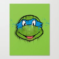 TURTLE POWER (NINJA TURTLE) Canvas Print