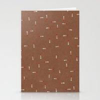 Canvas Dot Line Design Stationery Cards