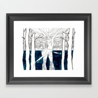 Druid Tree Framed Art Print