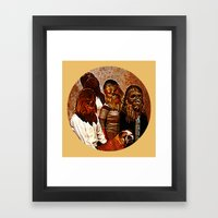 Wookiee Family Portrait … Framed Art Print