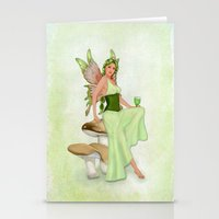 Absinthe The Green Fairy Stationery Cards